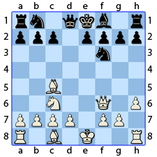 Chess Image 16: The Queen takes the Bishop of the Other Queen