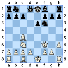 Chess Image 17: The King advances his pawn one house