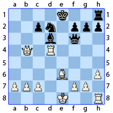 Chess Image 38: His King's Rook takes the Lady's Pawn