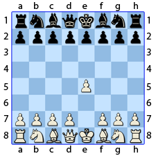 Chess Image 4: King's Pawn to the Fourth House